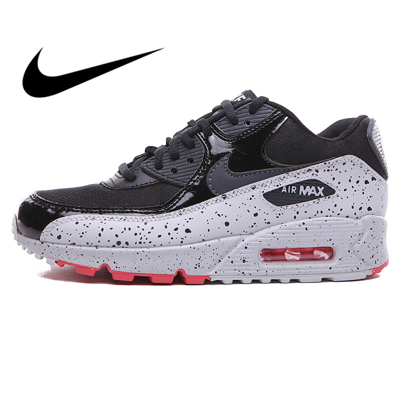 Authentic Nike AIR MAX 90 Men's Running Shoes Outdoor Sneaker Classic Designer Footwear Breathable Light Cozy Lace-Up 325213