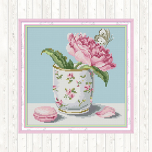 Counted Cross Stitch Kits Flowers DMC DIY Printed on Canvas 14CT 11CT Cross-stitch Embroidery Kit for Needlework Sets Home Decor red rose on the table painting counted 11ct 14ct cross stitch wholesale diy cross stitch kit embroidery needlework home decor