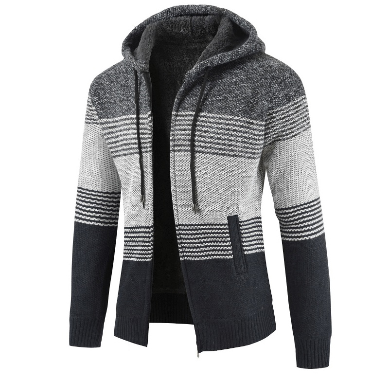 H0df3f4252cfb4edc84879dbe58de4b866 NEGIZBER 2019 Winter Mens Coats and Jackets Casual Patchwork Hooded Zipper Coats Men Fashion Thick Wool Jacket Men Streetwear