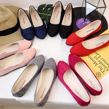 2019 nuevos zapatos de tacón de mujer de tacón europeo y americano de goma Pu conjunto Primavera de terciopelo bajo dedo del pie