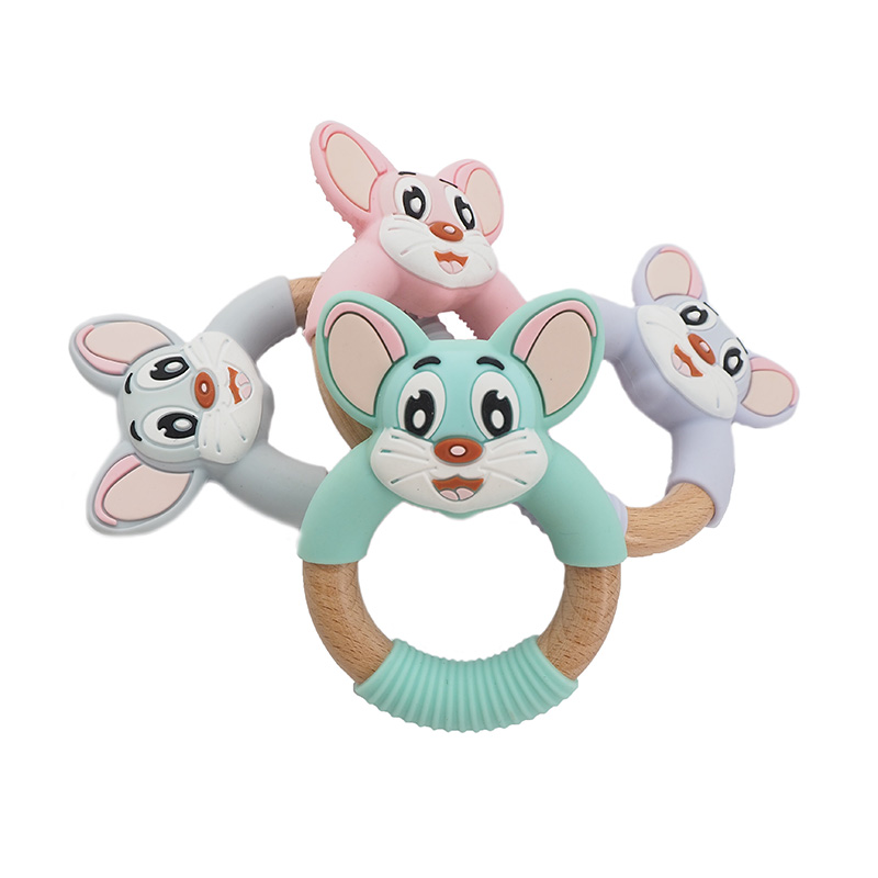 Food Grade Silicone Baby Teether For Teething Chew Toys Safety Animal Pacifier