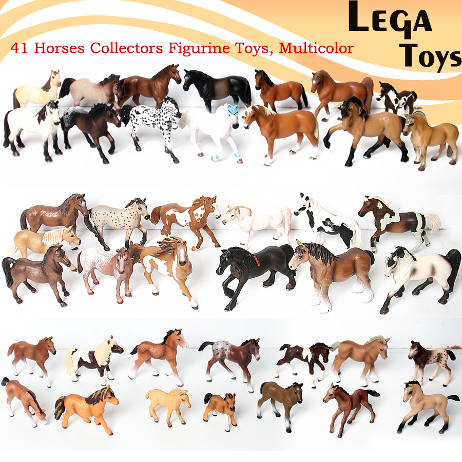 Hand painted Simulated model <font><b>horse</b></font> <font><b>figures</b></font>,Classic Furnishing articles Animal <font><b>Horse</b></font> Toy Model set Action <font><b>Figure</b></font> Educational Toys image