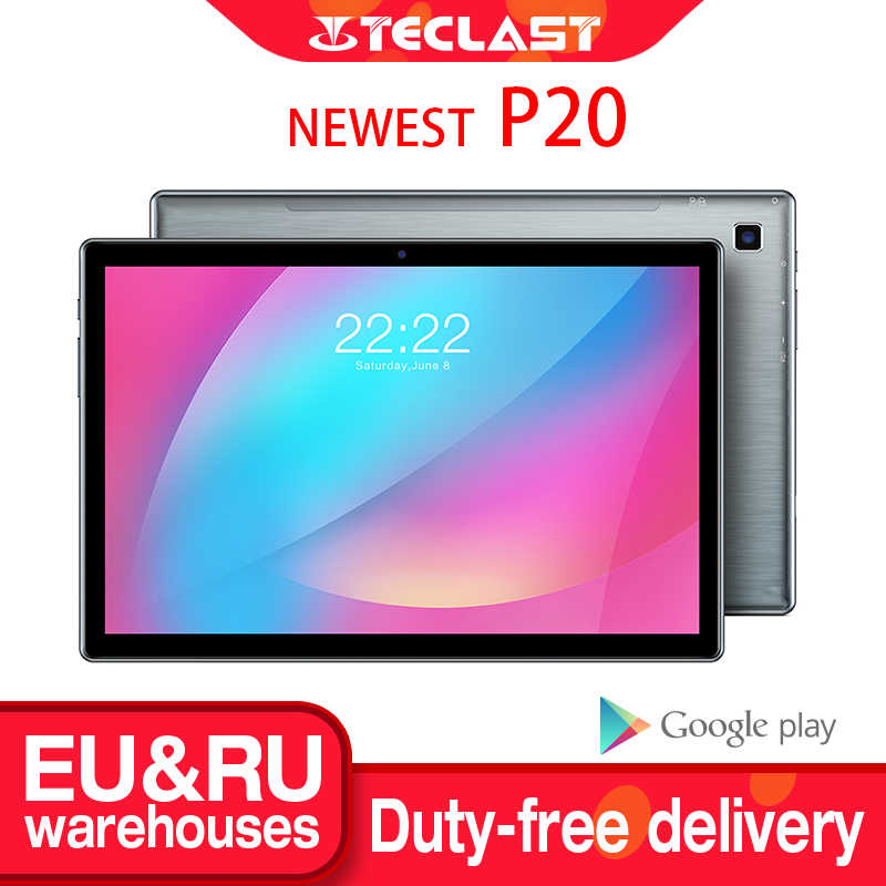 "Nieuwste Teclast P20 10.1 ""Android 10.0 Tablet 1280X800 Ips 2Gb Ram 32Gb Rom Octa Core 4G Netwerk Ai Speed-Up Dual Camera 6000Mah"