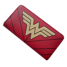 Women Wallet Wonder Woman Faux Leather Cartoon Wallet Super Hero Women Anime Wallet For Teens Girl Student Lady PU  Purse