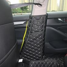 Автомобильный ремень безопасности из ПУ кожи, защитный коврик крэш колодка, стойка анти Kick Mat, чехлы для Honda Accord 10th 2018, аксессуары для интерьера