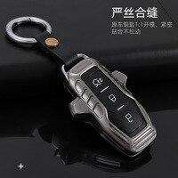Geeignet für Mustang Neue Mondeo Entdecker Keychain Fox Lincoln Maverick Scharfe Grenze Schlüssel Fall Leder Fall|Schlüsseletui für Auto|Kraftfahrzeuge und Motorräder -