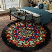 Mandala Vintage ronda de terciopelo estera de oración mesa de té antideslizante dormitorio pies alfombras niños colchón de juego