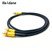 Haldane Gold Plated RCA Reference Interconnect Cable 2 RCA to 2 RCA Audio Cable with Single Crystal Copperr CANARE L-4E6S 1905