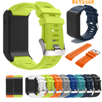 Sport Silicone Strap For Garmin vivoactive HR Wrist Strap Bracelet Strap Band For Garmin vivoactive HR Replacement Band Bangle stainless steel watch band 26mm for garmin fenix 3 hr butterfly clasp strap wrist loop belt bracelet silver spring bar