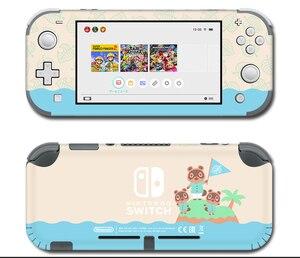 Image 2 - Vinil ekran cilt koruyucu çıkartmalar Nintendo anahtarı için lite konsolu hayvan geçişi Skins