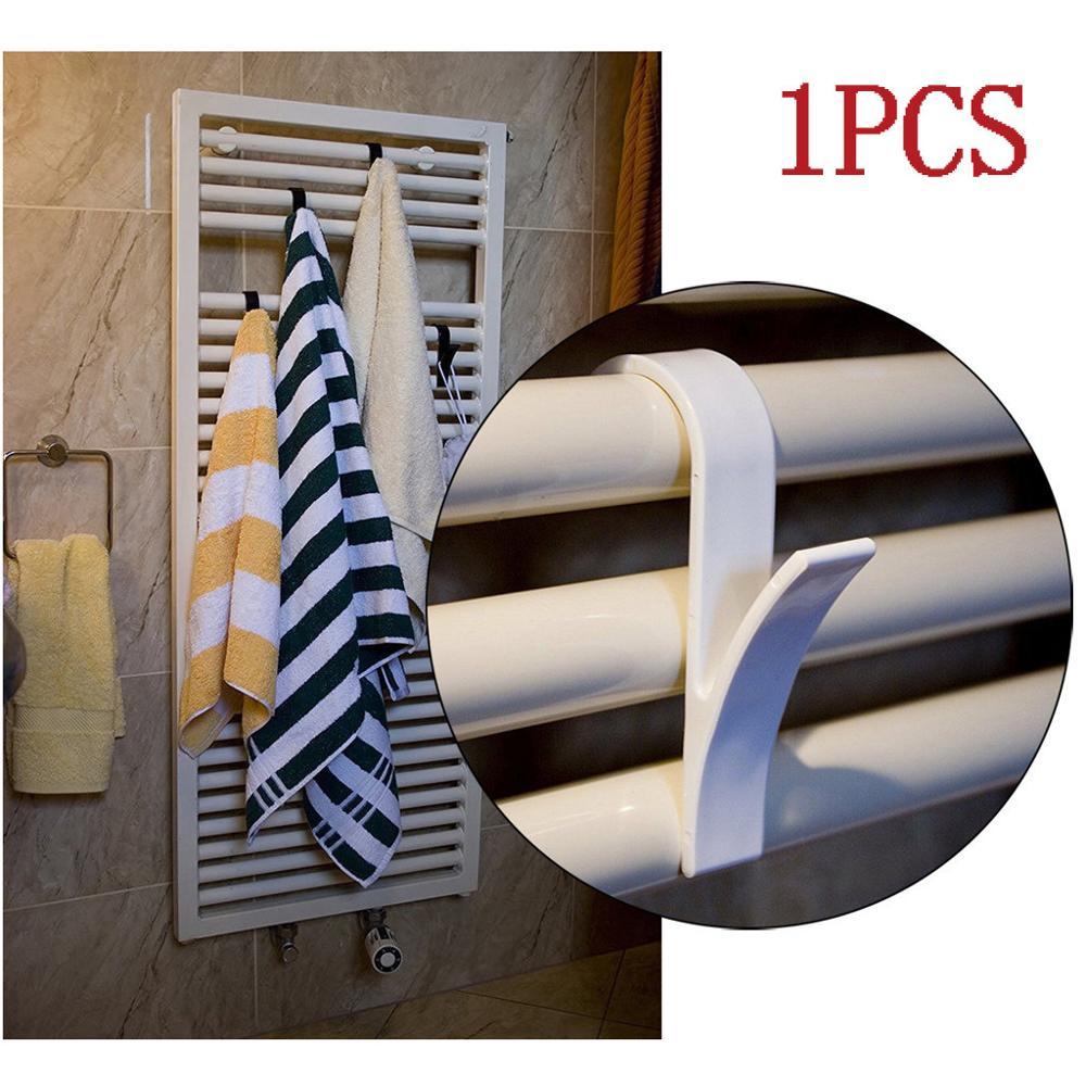 Y Shape Hook Towel Hanger For Heated Towel Rail Radiator Tubular Bath Hook Holder Storage Rack Bath Hook White Clear