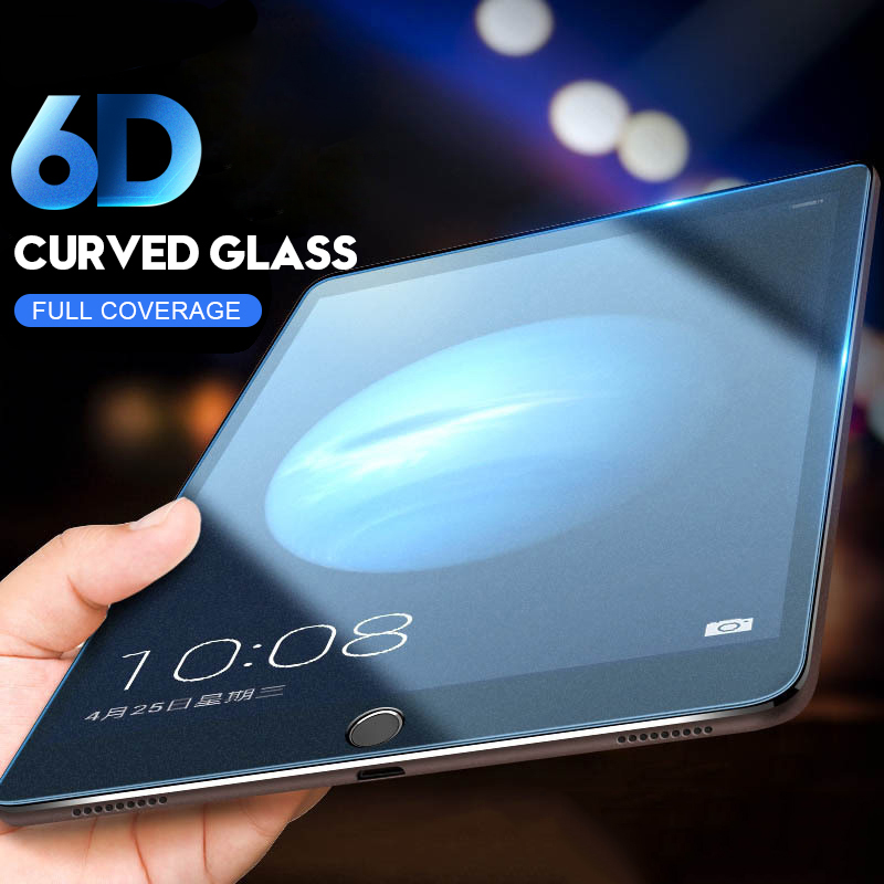 6D Curved Edge Screen Protector For IPad Pro 11 10.5 Tempered Glass For IPad 10.2 2019 2017 2018 9.7 Air 1 2 3 Mini 1 2 3 4 5