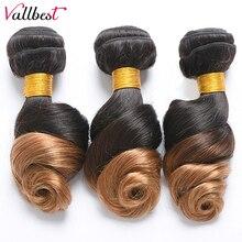 Vallbest Омбре пряди волос бразильские Свободные волны T1B/27 цвет 100 человеческие волосы пряди 100 г/шт. двойные Уток Remy волосы для наращивания