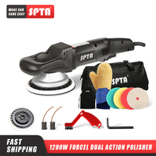 SPTA pulidor de doble acción de rotación forjada de 5 pulgadas/6 pulgadas 125mm, pulidor DA pulidora de coche y almohadillas de pulido