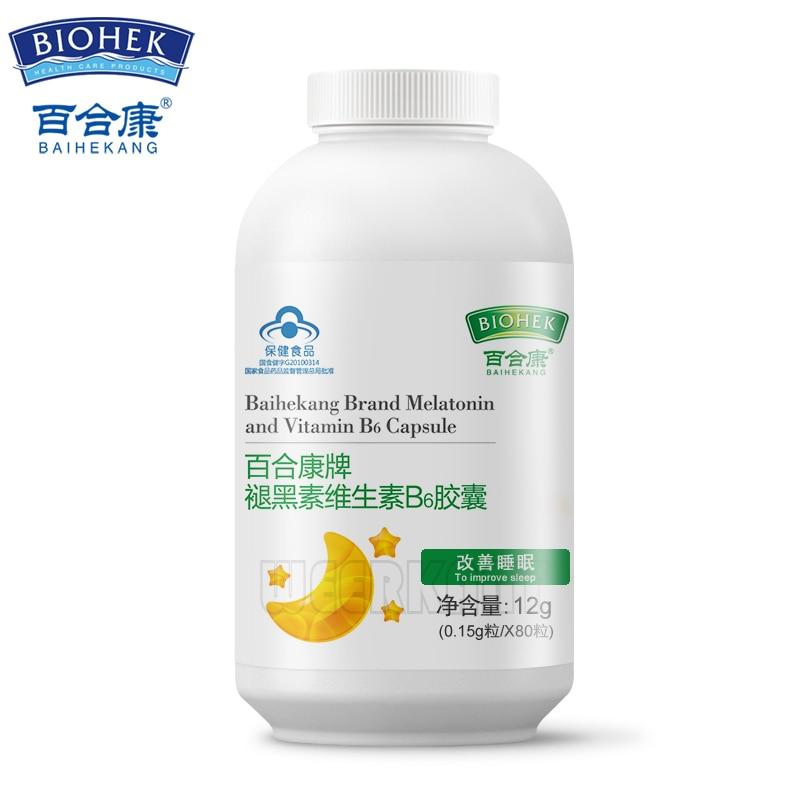 1 Bottle Super Strength Melatonin Capsules Help Improve Sleep Nighttime Aid Sleep Pill Free Shipping