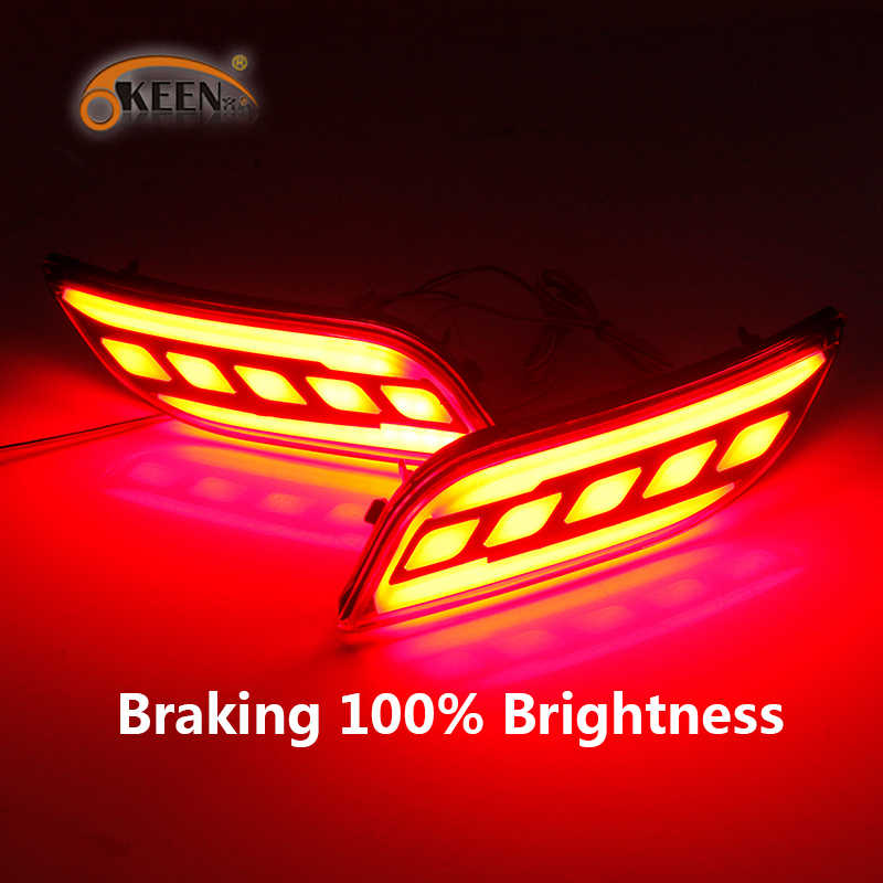 2 Stuks Voor Jeep Compass 2017 2018 2019 Auto Led Rear Bumper Reflector Licht Mistachterlicht Auto Lamp Brake licht