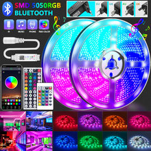LED Strip Lights RGB Bluetooth 20M 30M 5050 Waterproof Led Light for room 10M 5M Flexible Lamp Ribbon SMD RGB Tape Diode luces