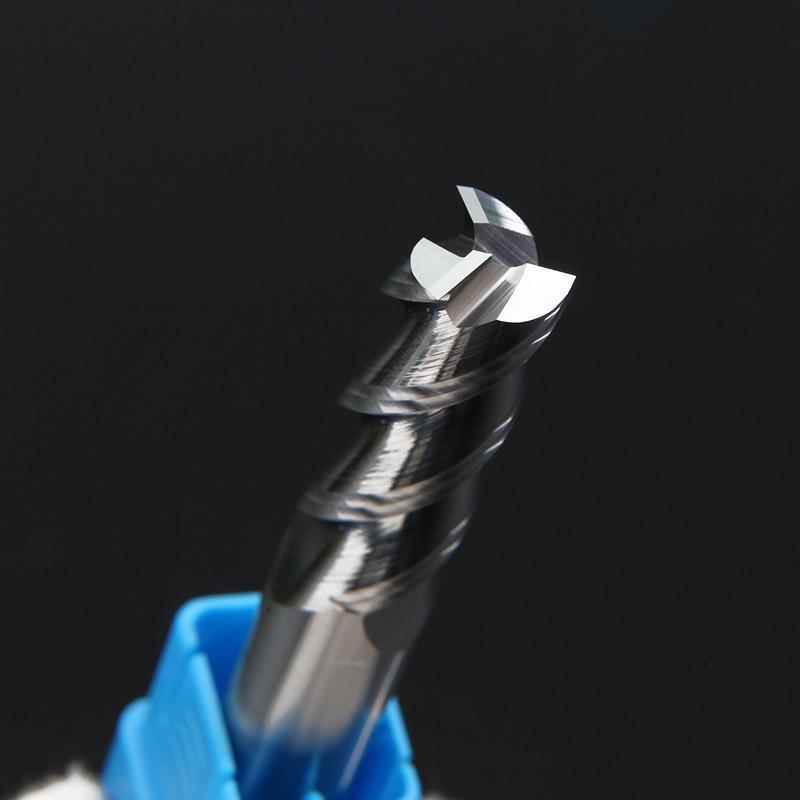 Aluminum Endmills HRC50 55 3 Flute Milling Cutter End Mill CNC Aluminum Copper Wood Cutter 4mm 6mm 8mm 10mm 12mm 14mm 16mm 18mm