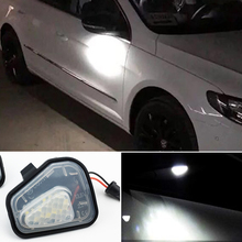 1 Set for VW Volkswagen Jetta 10 15/EOS 09 11/Passat B7 2010~/CC 09 12/Scirocco 09 14 Canbus LED Side Mirror Puddle Lights Lamp