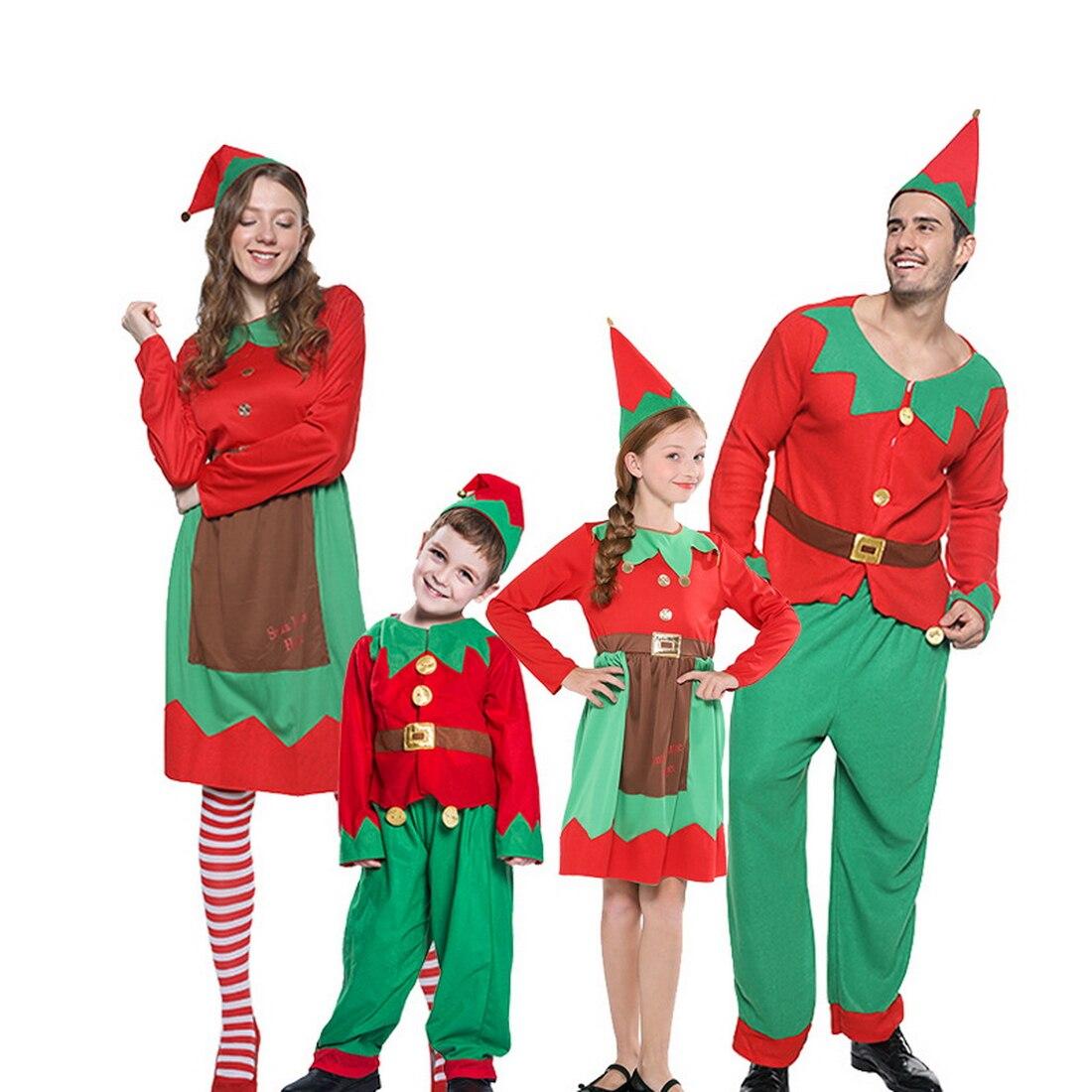 Famille correspondant tenue de noël filles vacances elfe Costume famille noël Costume Parent enfants femmes robe de noël
