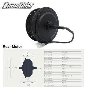 Image 3 - 36V 48V 350W 500W bafang 8fun SWX02 Gear Hub Motor High Speed E bike Front Rear Cassette RM G020.350.D DC G020.500.D DC