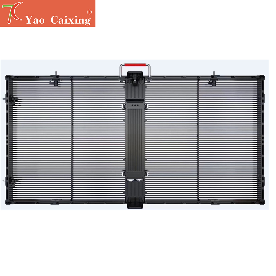 Personalized Customization Transparent P3.91 High Brightness Glass Video Wall Curtain Led Screen