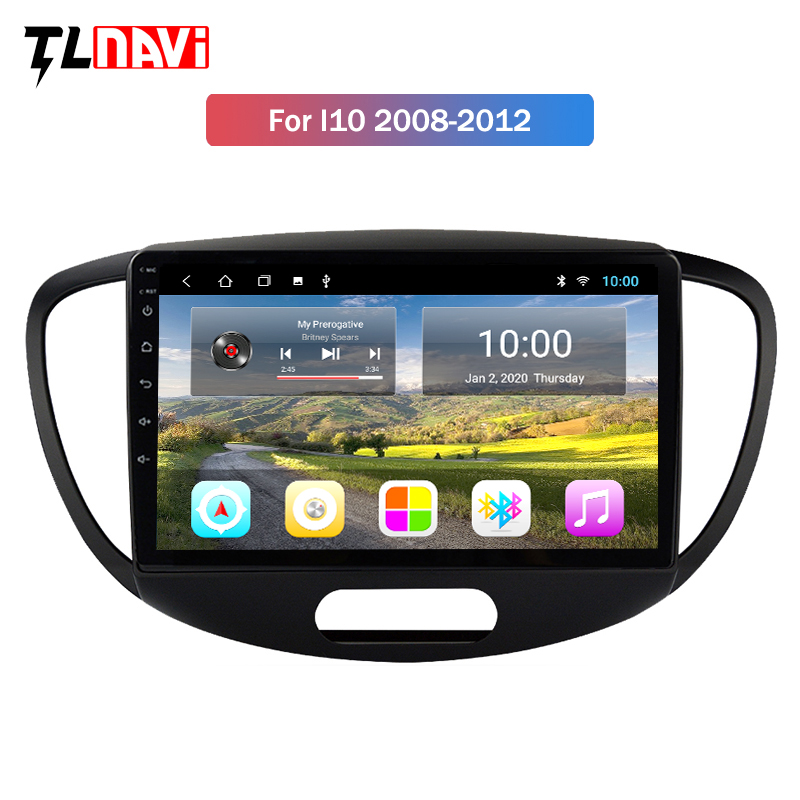2G RAM Android 9.0 Car Radio Multimedia Player For <font><b>Hyundai</b></font> <font><b>Grand</b></font> <font><b>I10</b></font> 2008-2012 Auto Stereo Video <font><b>GPS</b></font> Navigation image