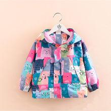 2020 primavera outono meninas casaco blusão jaquetas bebê crianças dos desenhos animados impressão com capuz outwear para o bebê crianças casacos jaqueta roupas