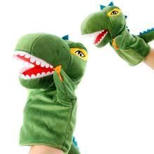 Dinossauro marioneta luva fantoches mão fantoche teatro boneca brinquedos de pelúcia storys falando juguetes ajuda aprendizagem engraçado presente crianças