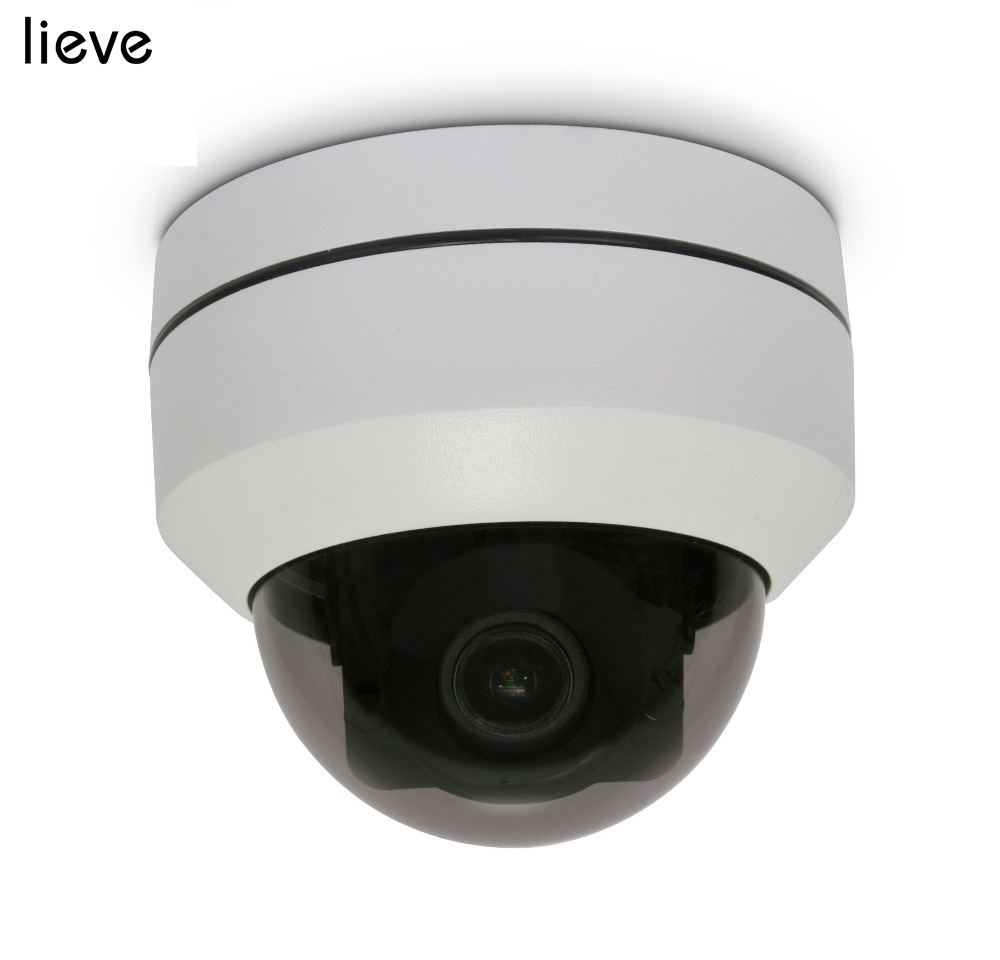 LIEVE PTZ Dome AHD Camera 1080P Mini Outdoor CCTV Security Camera Motorized Pan Tilt 4in1 5X Zoom Lens image