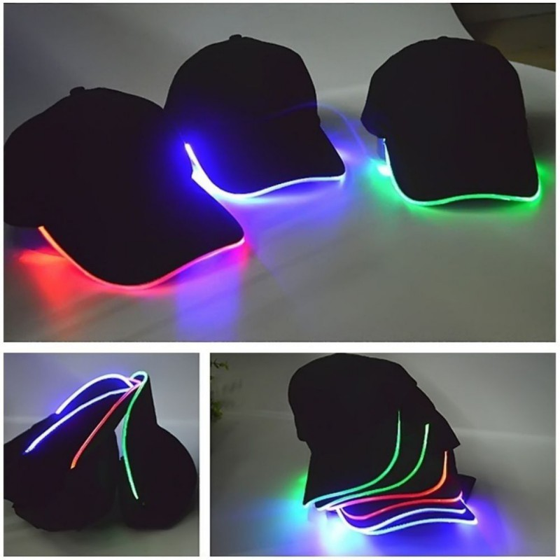 LED Glowing Cap Light Up Baseball Hat Perfect For Party Hip-hop Running And More Sporting LED Hat Christmas Gift