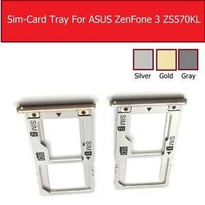 Держатель для sim-карт для ASUS ZenFone 3 Deluxe ZS570KL, держатель для sim-карт, слот для карт Micro SD, запчасти, адаптер для sim-карт