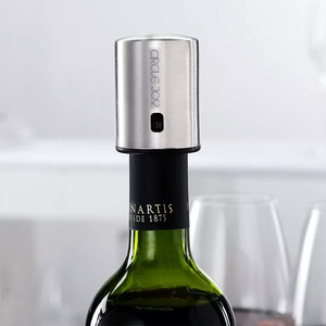 Image 2 - دائرة الفرح الذكية النبيذ سدادة الفولاذ المقاوم للصدأ الكهربائية سدادة النبيذ الفلين فراغ الذاكرة النبيذ سدادة دائم