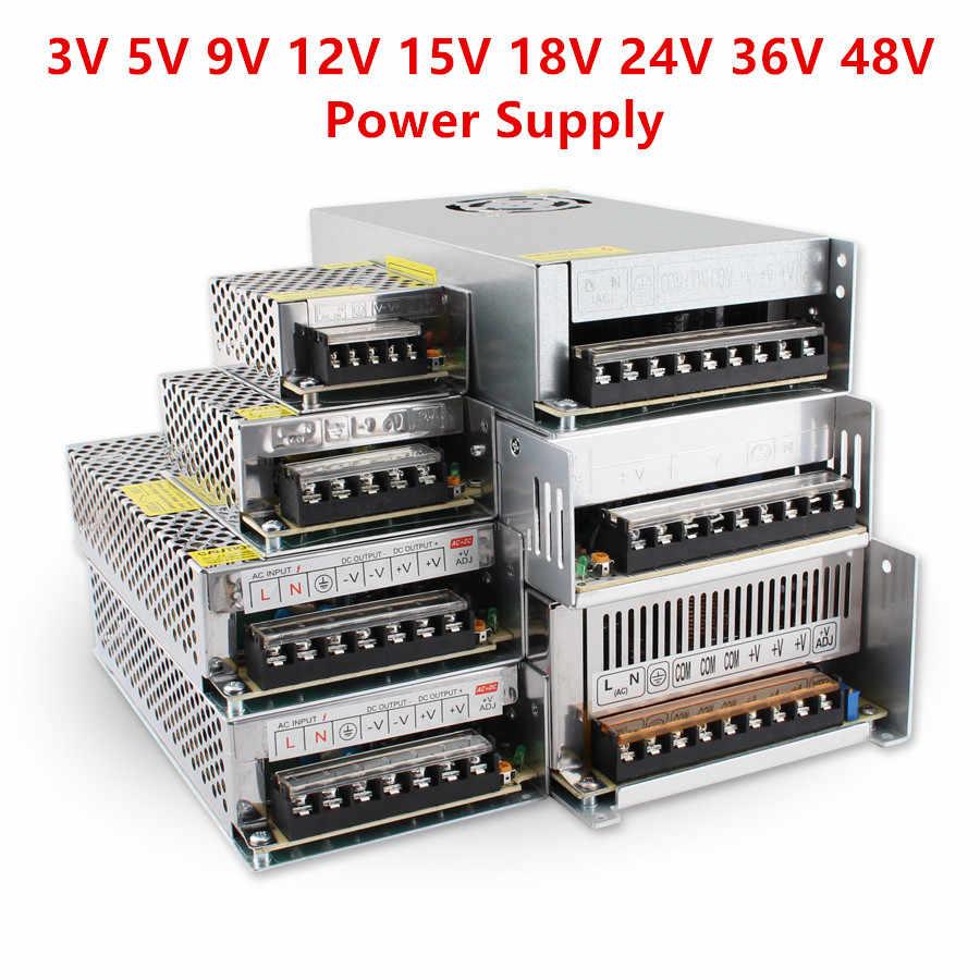 المحولات 5V 12V 24V امدادات الطاقة 1A 2A 3A 5A 10A 15A 20A 220V إلى 12V 3V 5V 9V 15V 18V 24V 36V 48V مصباح LED للامداد بالطاقة سائق