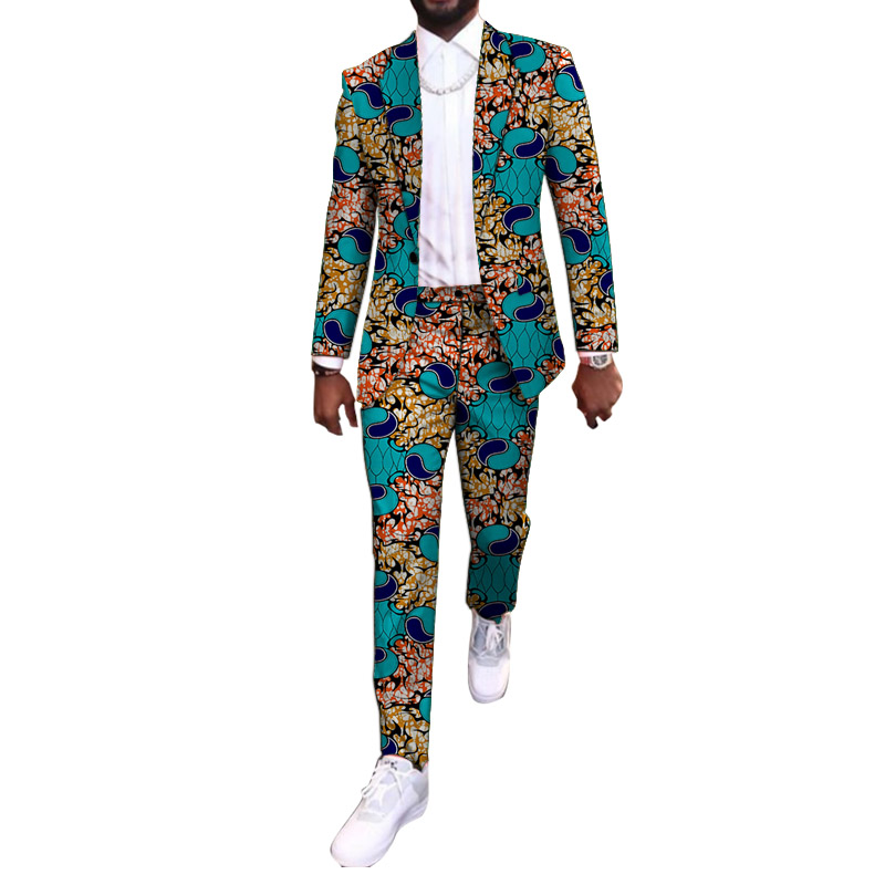 New Arrivals African Party Wears Customized Casual Men   s Pant Suits Blazers Patch Trousers Ankara Fashion Male Wedding Garments
