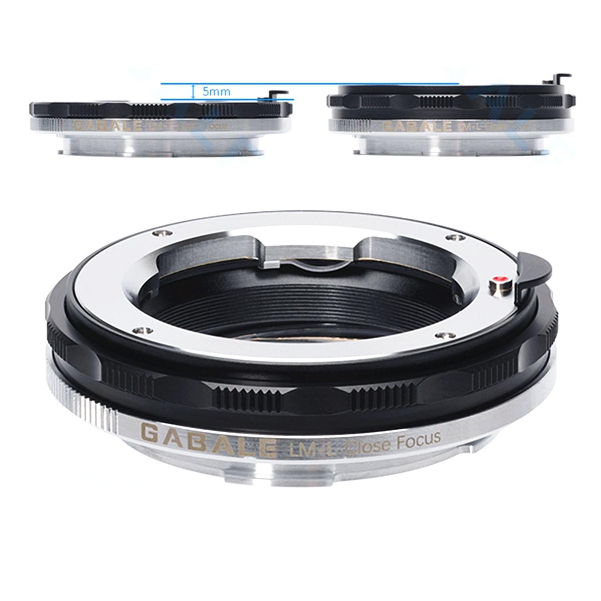 Adaptateur de monture d'objectif extensible bague Macro pour objectifs Leica M LM et CL T TL TL2 SL Panasnonic L S1 S1R Sigma FP corps de caméra