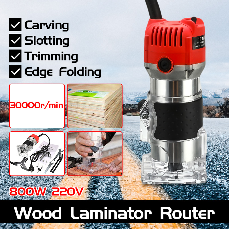 220V 800W Electric Trimmer Handheld Laminate Edge Trimmer 1/4