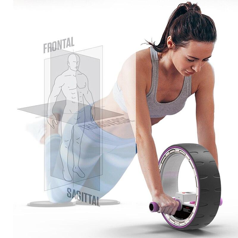 Ejercicio de rodillo de rueda de músculo abdominal para interiores, rodillos de Ab silenciosos, entrenador, equipo de entrenamiento, gimnasio, construcción de cuerpo en casa, caliente - 3
