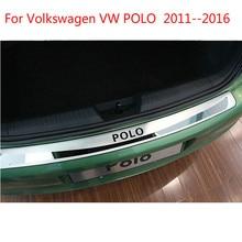 Высококачественная нержавеющая стальная наружная дверь порога Накладка авто для Volkswagen VW POLO 2011