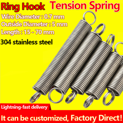 Ring Hook Tension Spring Coil Extension Spring Pullback Spring Draught Spring Wire Diameter 0.7mm Outer Diameter 5mm Custom