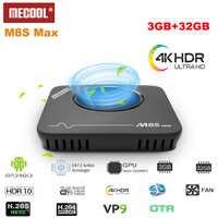 Original MECOOL M8S Max TV Box Android 7.1 Amlogic S912 3GB RAM 32GB ROM 2.4G + 5.8G WiFi BT4.0 100Mbps 4K VP9 H.265 lecteur multimédia