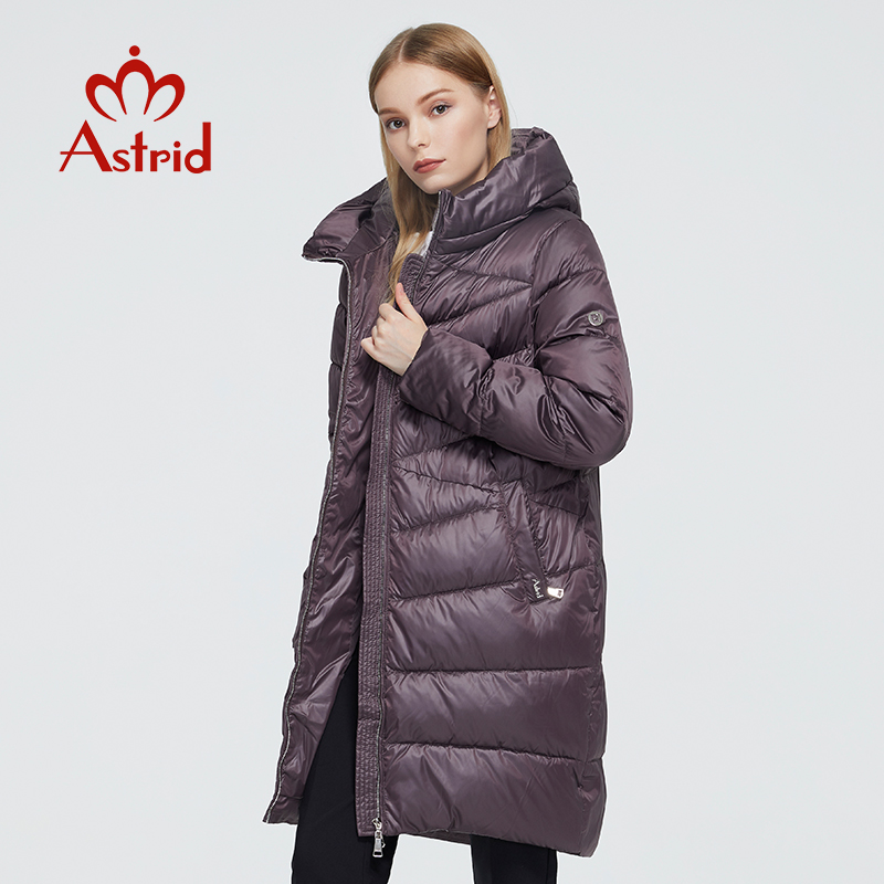 Astrid 2020 новое зимнее женское пальто Женская длинная теплая парка модная куртка с капюшоном Bio Down женская одежда новый дизайн 9215 Парки      АлиЭкспресс