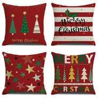 Weihnachten Kissen Abdeckung Für Wohnzimmer Sofa Hause Dekorative Housse De Coussin