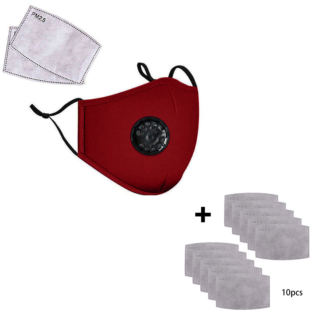 Cotton Breath Valve PM2.5 Mouth Mask Anti-Dust Anti Pollution Mask Cloth Activated Carbon Filter Anti Air Dust Filters Drop Ship