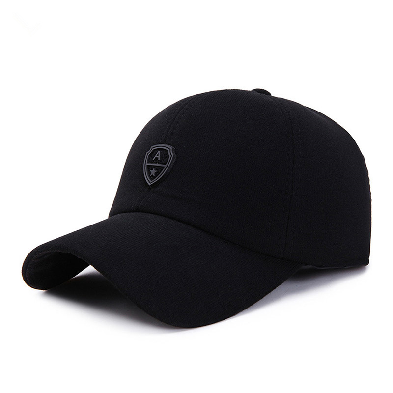 New Arrival Corduroy Sport Winter   Baseball     Cap   with Ears Casual Winter Hat Warm Hats for Men Golf Hat for Men and Women