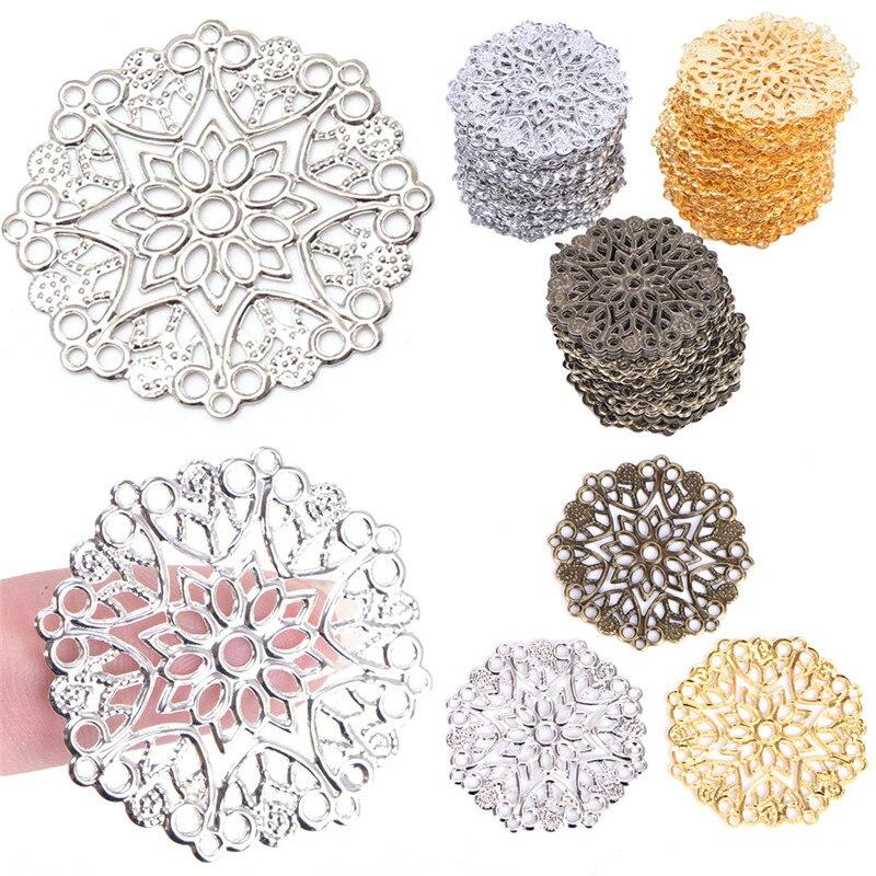 50 шт., металлические украшения в виде бабочки|Ювелирная фурнитура и компоненты|   | АлиЭкспресс