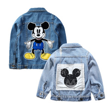 2019 Mickey Denim Jacket For Boys Fashion Coats Children Clo