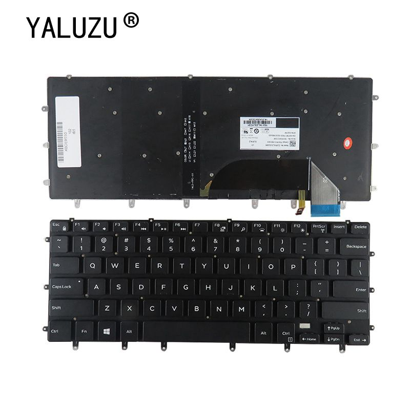 YALUZU US laptop <font><b>keyboard</b></font> for <font><b>Dell</b></font> XPS 15 9550 9560 15BR Inspiron 15- 7558 7568 XPS15 Precision <font><b>5510</b></font> m5510 English backlit NEW image