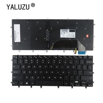 YALUZU US laptop keyboard for Dell XPS 15 9550 9560 15BR Inspiron 15- 7558 7568 XPS15 Precision 5510 m5510 English backlit NEW image