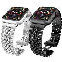 Für Apple Uhr 6 SE Edelstahl Band 40mm 44mm 38mm 42mm Business Metall Link Armband iWatch Serie 5/4/3/2/1 Handgelenk Gurt